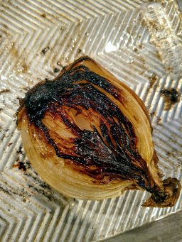 Blackened onion